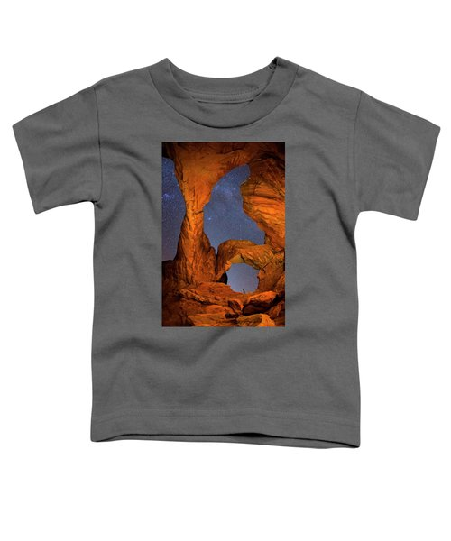 Toddler T-Shirt featuring the photograph Double Arch At Night by Whit Richardson
