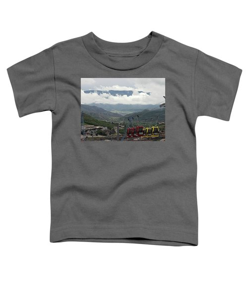 Down The Valley At Snowmass Toddler T-Shirt
