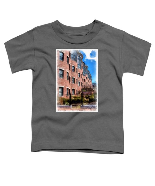 Downtown Burlington Vermont Watercolor Toddler T-Shirt