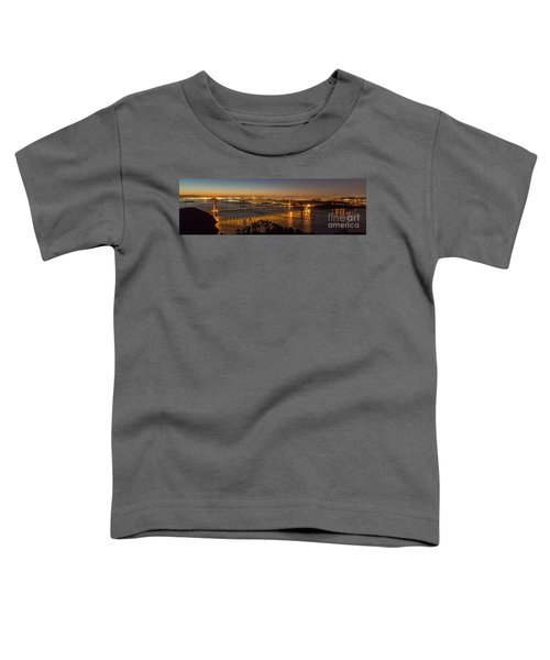 Downtown San Francisco And Golden Gate Bridge Just Before Sunris Toddler T-Shirt