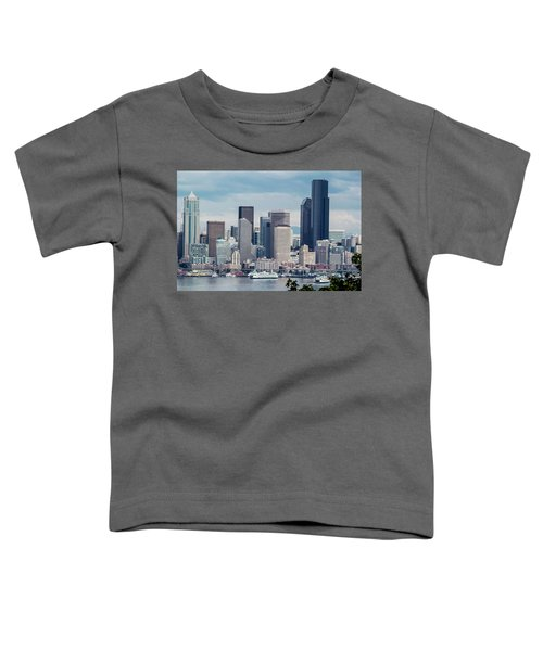 Downtown Seattle And Ferries Toddler T-Shirt