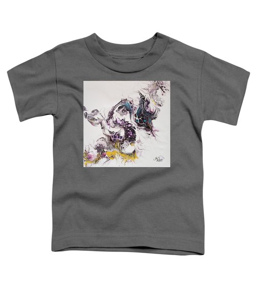 Toddler T-Shirt featuring the painting Dragon Breathe by Joanne Smoley