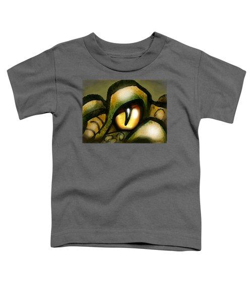 Dragon Eye Toddler T-Shirt by Kevin Middleton
