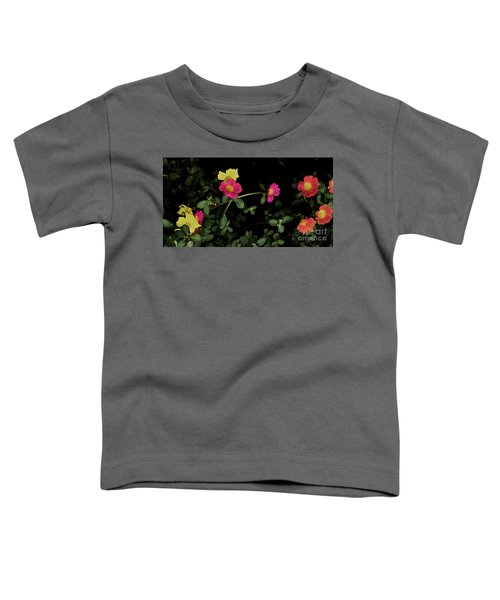 Dramatic Colorful Flowers Toddler T-Shirt