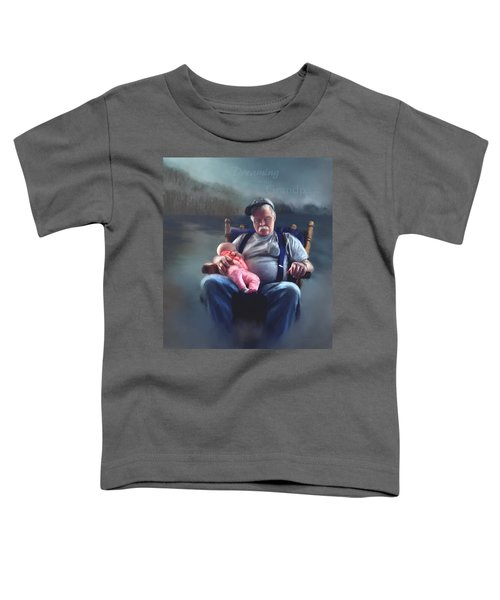 Toddler T-Shirt featuring the painting Dreaming With Grandpa by Susan Kinney