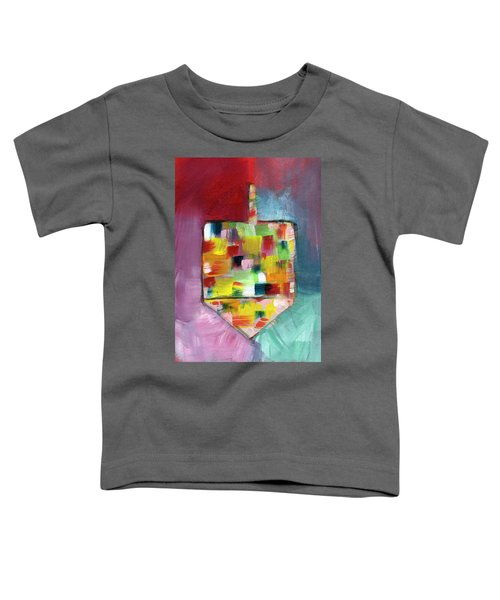 Dreidel Of Many Colors- Art By Linda Woods Toddler T-Shirt