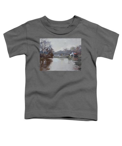 Drizzling At Tonawanda Canal  Toddler T-Shirt