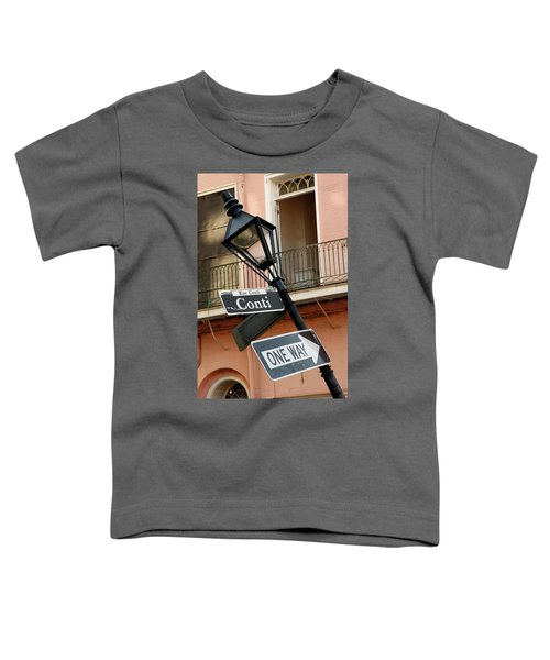 Drunk Street Sign French Quarter Toddler T-Shirt