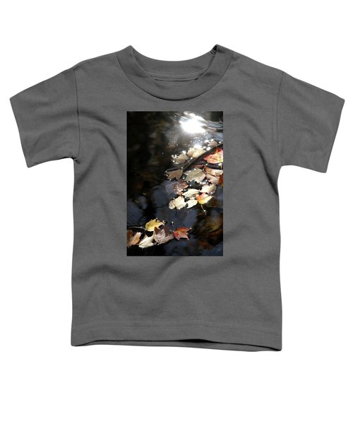 Dry Leaves Floating On The Surface Of A Stream Toddler T-Shirt