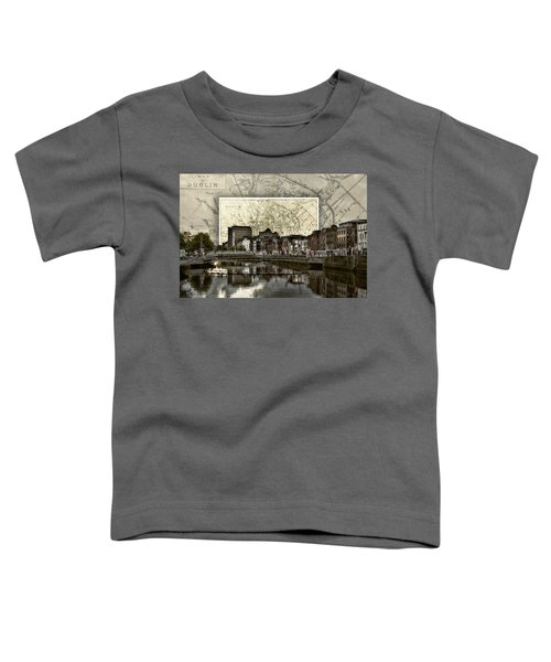 Dublin Skyline Mapped Toddler T-Shirt