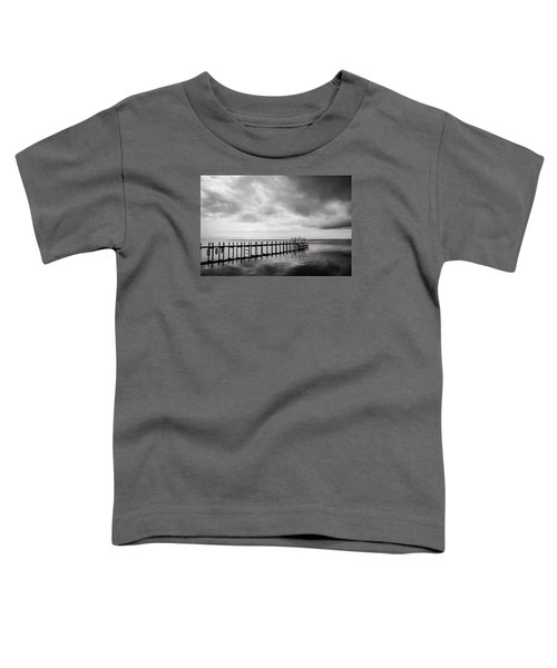Duck Pier In Black And White Toddler T-Shirt