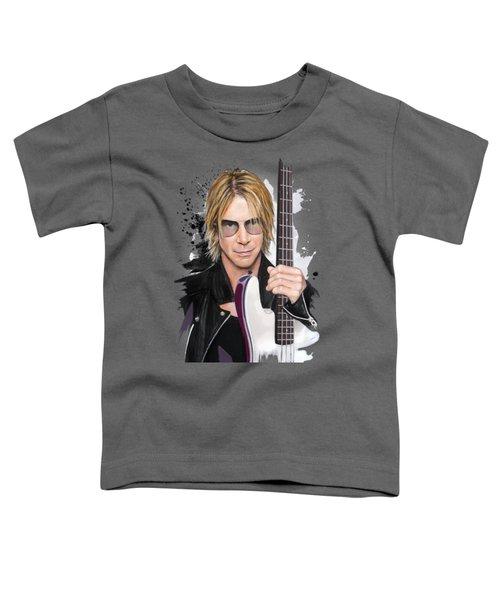 Duff Mckagan Toddler T-Shirt by Melanie D
