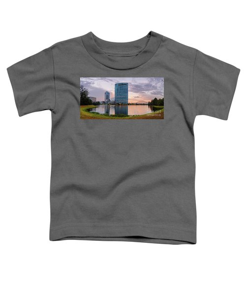 Dusk Panorama Of The Woodlands Waterway And Anadarko Petroleum Towers - The Woodlands Texas Toddler T-Shirt