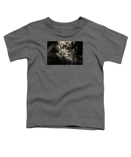 Faded Chrysanthemum Flower Abstract Print Toddler T-Shirt