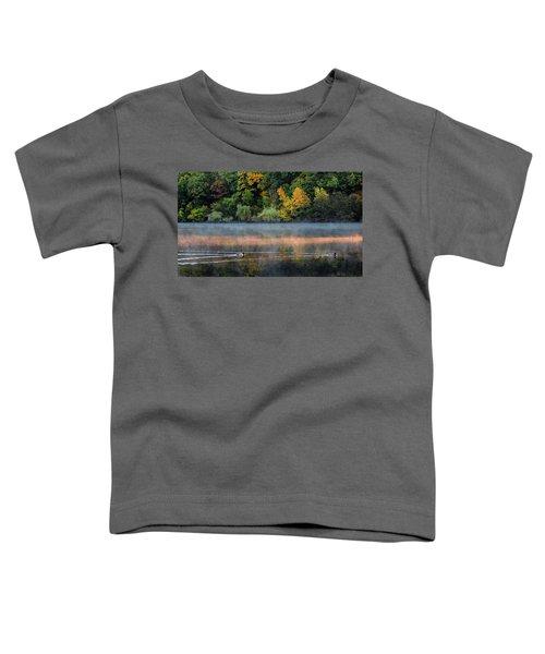 Early Autumn Morning At Longfellow Pond Toddler T-Shirt