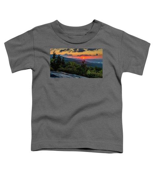 Blue Ridge Parkway Sunrise - Beacon Heights - North Carolina Toddler T-Shirt