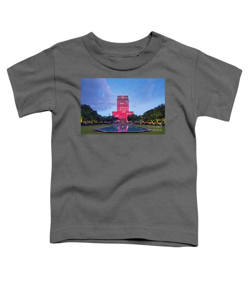 Early Dawn Architectural Photograph Of Houston City Hall And Hermann Square - Downtown Houston Texas Toddler T-Shirt