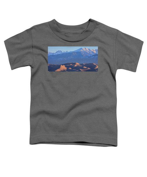 Early Morning Sand Dunes And Snow Covered Peaks Toddler T-Shirt by James BO Insogna