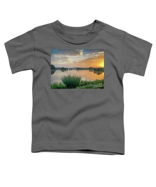 Early Morning Sunrise On The Lake Toddler T-Shirt