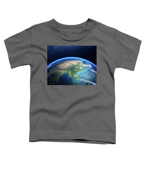 Earth From Space Asia View Toddler T-Shirt