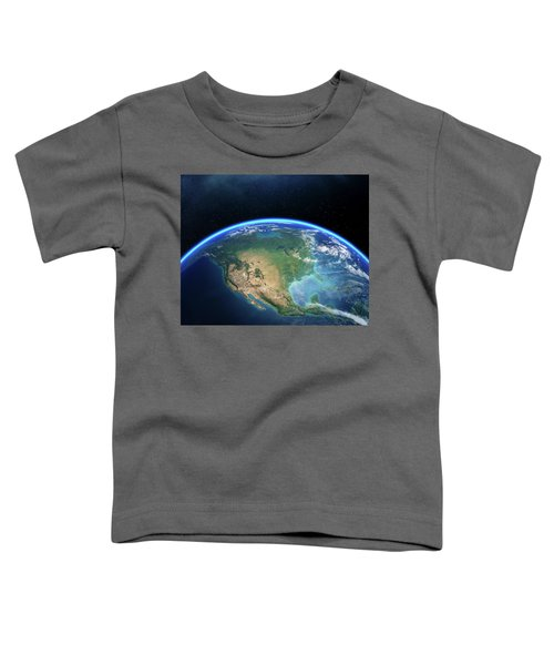 Earth From Space North America Toddler T-Shirt