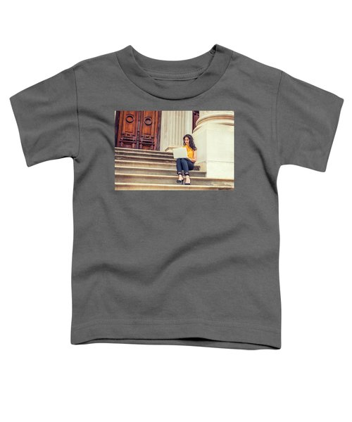 East Indian American College Student Studying In New York Toddler T-Shirt