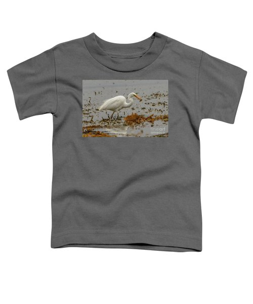 Eastern Great Egret 10 Toddler T-Shirt