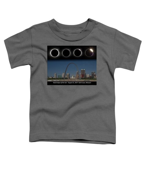 Eclipse - St Louis Skyline Toddler T-Shirt