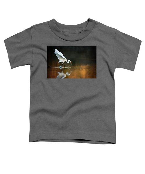 Egret At Sunset Toddler T-Shirt