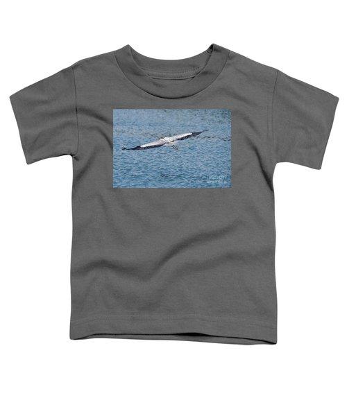 Great Blue Heron In Flight Toddler T-Shirt