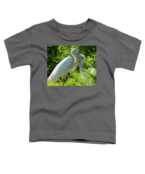 Egrets At Feeding Time Toddler T-Shirt