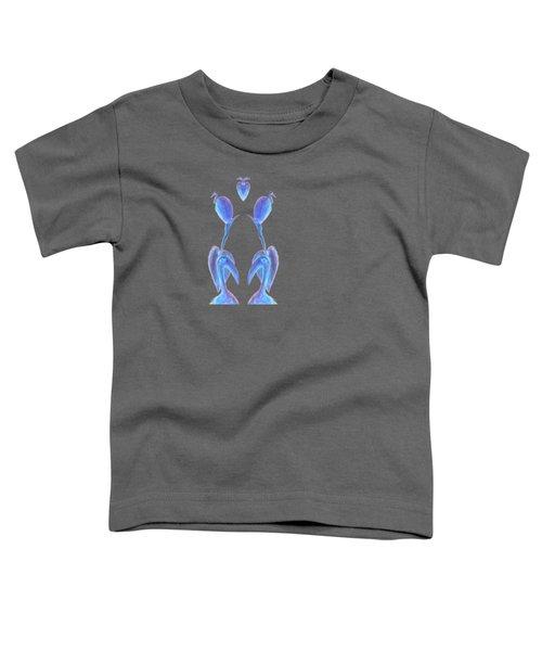 Egrets On White Toddler T-Shirt by Geckojoy Gecko Books