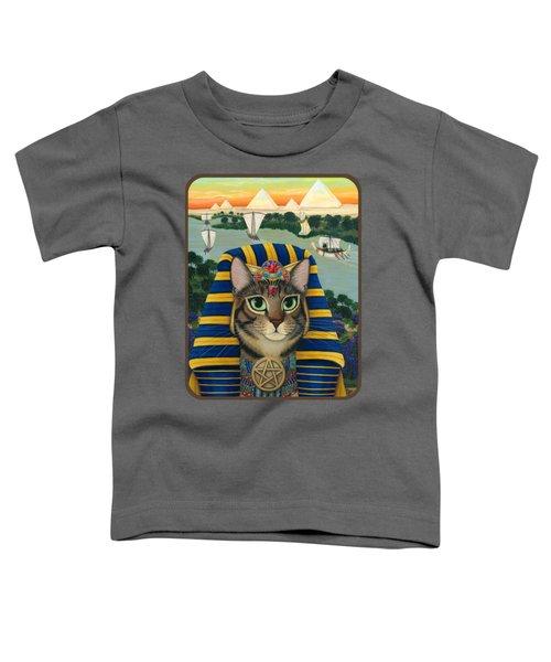 Egyptian Pharaoh Cat - King Of Pentacles Toddler T-Shirt