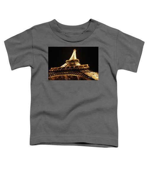 Toddler T-Shirt featuring the photograph Eiffel Tower At Night by MGL Meiklejohn Graphics Licensing