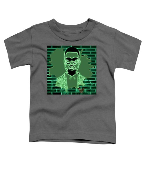 Electric Kanye West Graphic Toddler T-Shirt by Dan Sproul