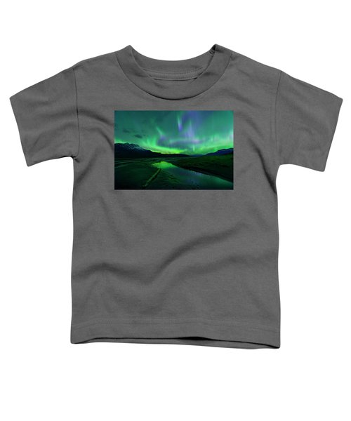 Electric Skies Over Jasper National Park Toddler T-Shirt