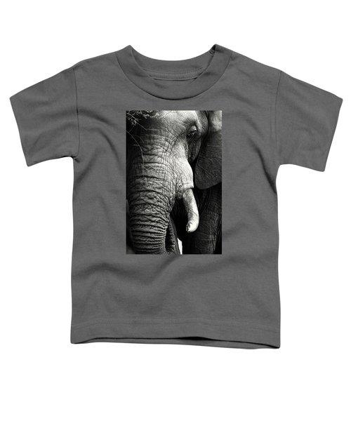Elephant Close-up Portrait Toddler T-Shirt