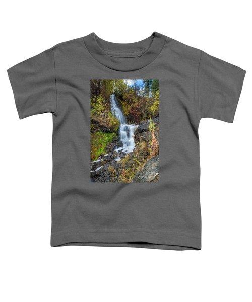 Elk Creek Waterfall Waterscape Art By Kaylyn Franks Toddler T-Shirt