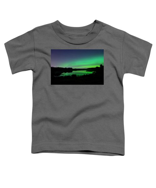 Elk Island Aurora Reflections Toddler T-Shirt