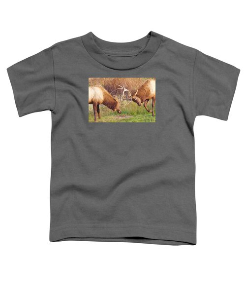 Elk Tussle Too Toddler T-Shirt