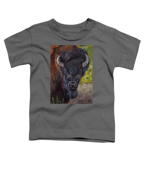 Elvis The Bison Toddler T-Shirt