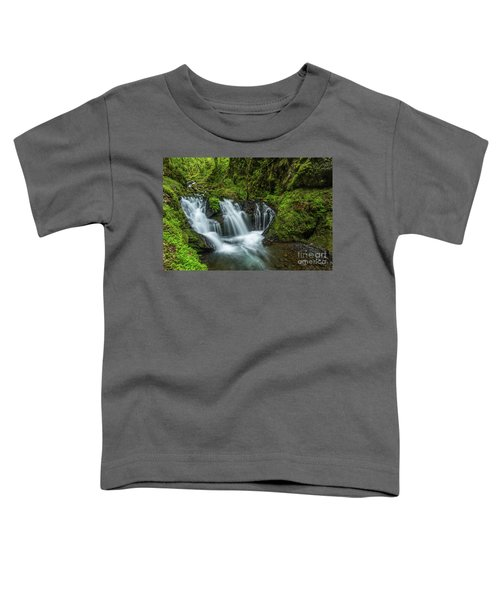 Emeral Falls Waterscape Art By Kaylyn Franks Toddler T-Shirt