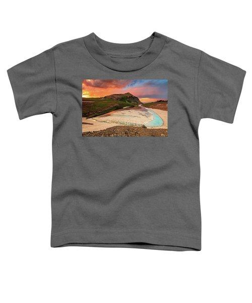Emerald Lake Sunset Toddler T-Shirt