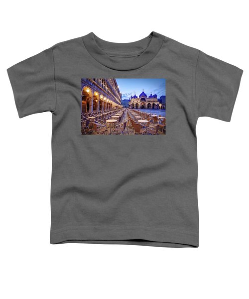 Empty Cafe On Piazza San Marco - Venice Toddler T-Shirt