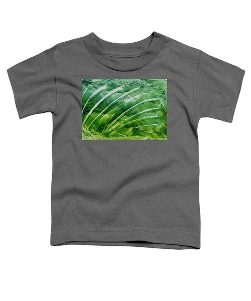 Encaustic Abstract Green Fan Foliage Toddler T-Shirt