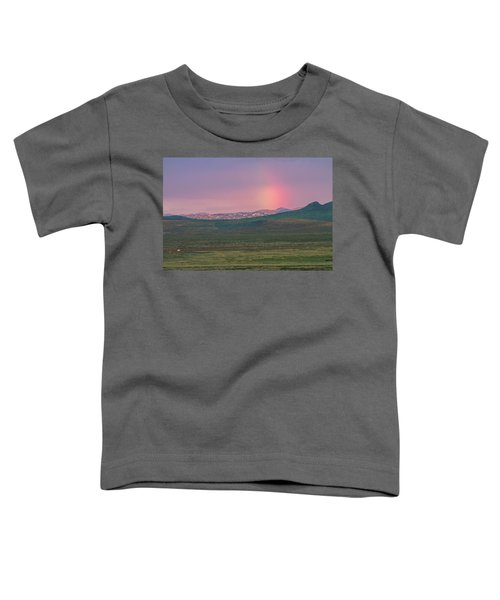 Toddler T-Shirt featuring the photograph End Of Rainbow by Hitendra SINKAR