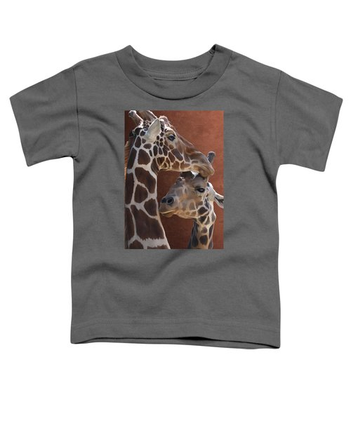 Endearing Giraffes Toddler T-Shirt