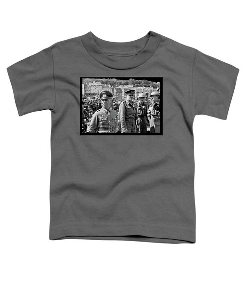 Erwin Rommel And Captured British Soldiers Tobruck Libya 1942 Color Added 2016  Toddler T-Shirt