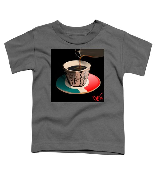Toddler T-Shirt featuring the digital art Espresso by Gerry Morgan