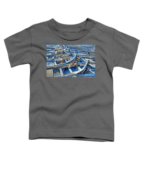 Essaouira Blue Fishing Boats Toddler T-Shirt